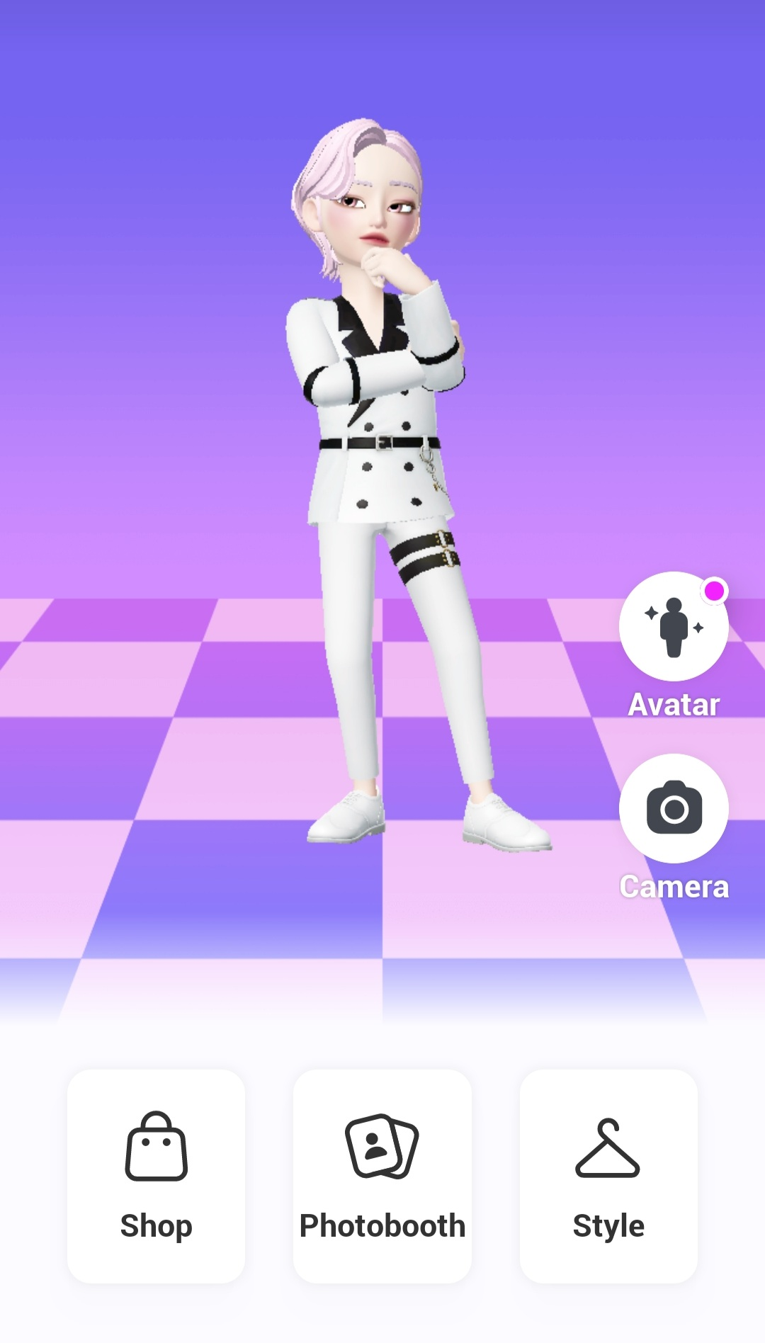A character in Zepeto metaverse