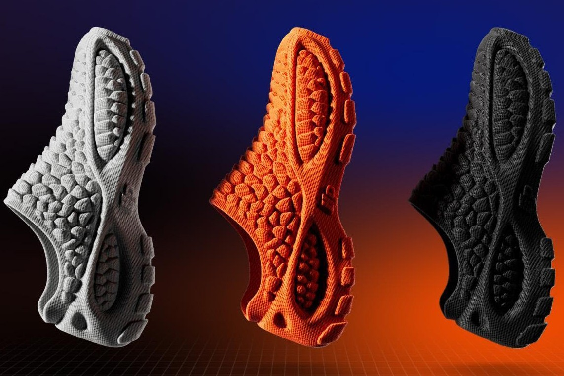 The three colours of Heron Preston 3D shoes